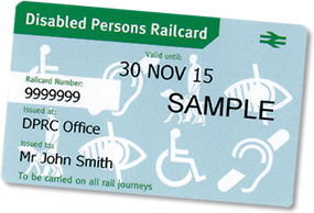Disabled railcard